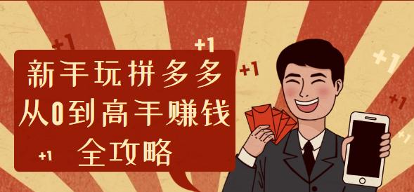 精品课程:新手玩拼多多从0到高手赚钱全攻略【完结】