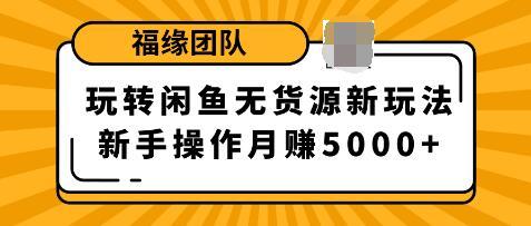 福源团队玩转闲鱼无货源新玩法,新手简单操作轻松月赚5000+