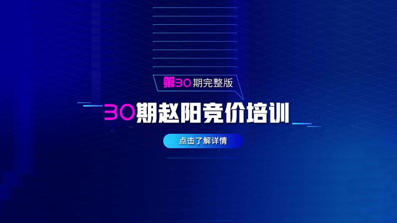 赵阳sem竞价第30期培训教程课程(2020完结)价值3999元