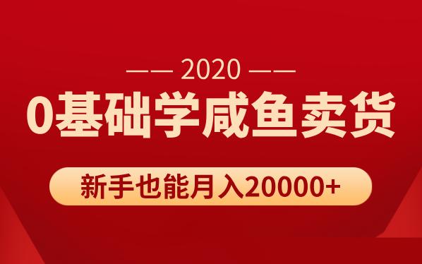 新手0基础学咸鱼卖货,也能轻松月入20000+【价值998元】