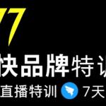 7日极快品牌集训营,在线直播特训:7天顶7年,品牌生存的终极密码