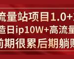 《大流量站项目1.0+2.0》打造日IP10W+高流量站,前期很累后期躺赚