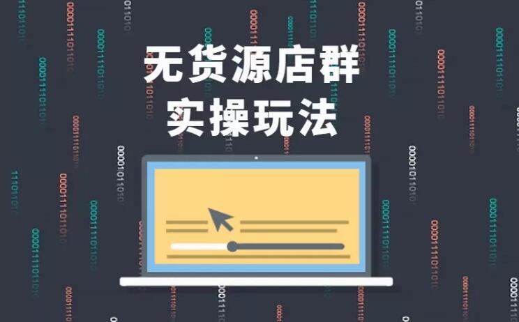 无货源店群实操玩法,蓝海选品的独特思路,店群软件操作方法(45节视频课)