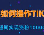 新手小白操作TIKTOK,3天从0到10000粉丝撸美金实战分享