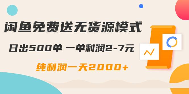 闲鱼免费送无货源模式是如何日出500单的?一单利润2-7元 纯利润一天2000+